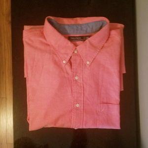 Men's Nautica 3XLT Salmon Long-Sleeve Shirt